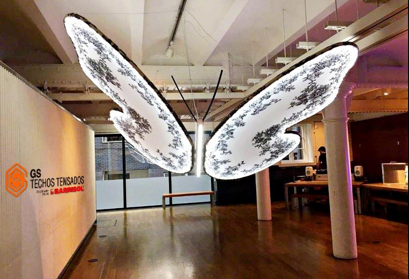 Diseño Chantal , lamparas e iluminación Barrisol