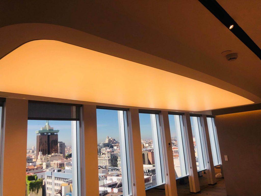 Techo Retroiluminado tensados Barrisol en Torre Serrano de Madrid