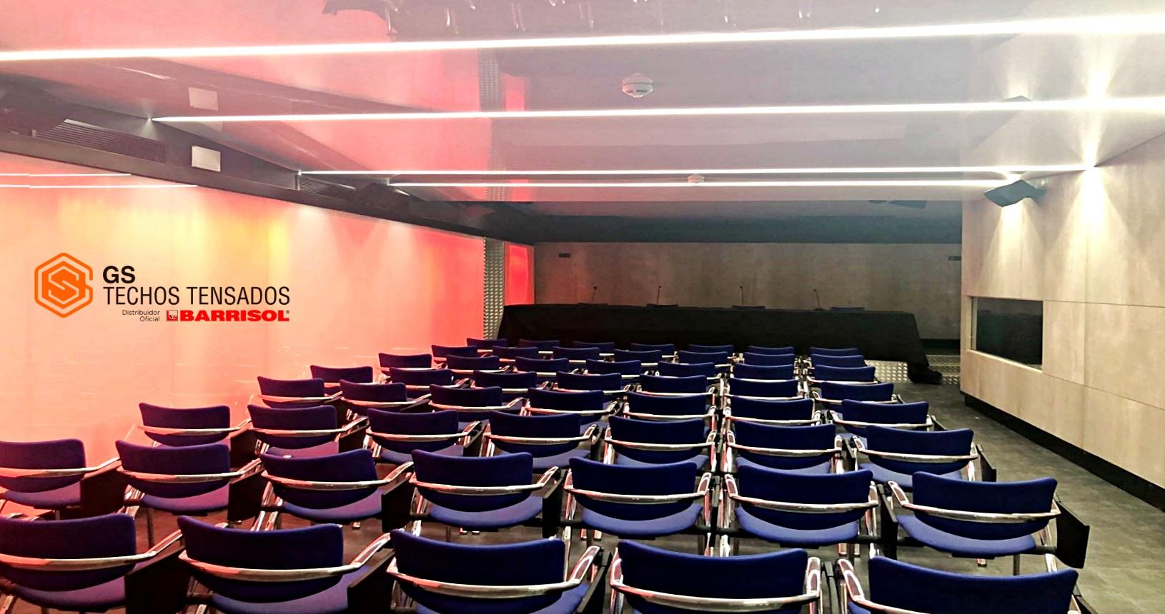 Sala de prensa de Wizink Center por Gs Techos Tensados Barrisol